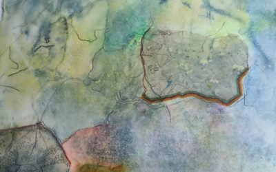 Thoughts on collage and Encaustic