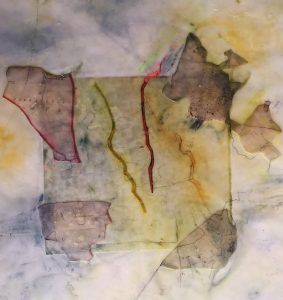 Encaustic Collage on paper