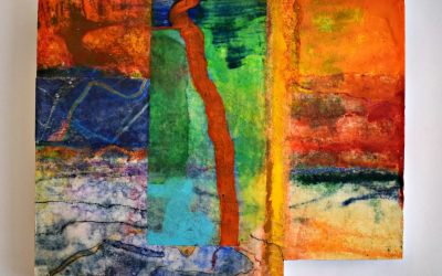 Anne Curran Encaustic painting selected