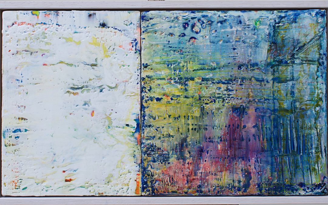 Anne Curran Encaustic Dyptech Selected