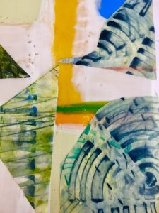 Encaustic collage Wicklow
